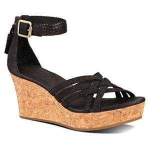 "UGG ""Lillie"" Cork Wedge Platform Sandals UNWORN"